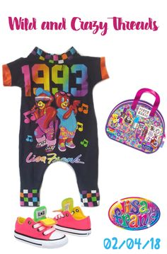 65e76cfdf3b7 UPCYCLED Lisa Frank Toddler Outfit/Retro Baby Romper Releasing on the  website 02/04