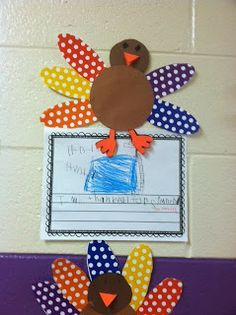 Mrs. Black's Bees: Thanksgiving Craft & Writing Activity