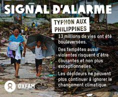 Le 8 novembre, 1 violent typhon frappait les Philippines, bouleversant la vie de près de 13 millions de personnes. Des tempêtes d'une telle puissance risque de devenir de plus en plus courantes et non plus exceptionnelles. Les décideurs ne peuvent plus continuer d'ignorer le changement climatique. Ils doivent agir. http://oxf.am/wwv #COP19 #TyphonHaiyan