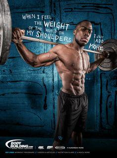 Workout Motivation with Kizzito Ejam! Bodybuilding Motivation, Bodybuilder, Wellness Fitness, Health Fitness, Health Exercise, Fitness Motivation Quotes, Workout Motivation, Daily Motivation, I Work Out