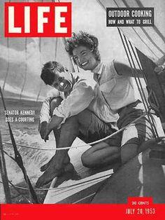 Life Magazine Cover Copyright 1953 Kennedy and Bouvier - www.MadMenArt.com…