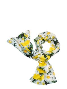 a super-soft scarf in the springiest floral print is sure to brighten up your entire wardrobe. try it knotted around your neck, tied around your head or adorning your favorite handbag.