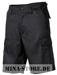 mina-store.de - US BDU Bermuda mit Seitentaschen schwarz #Bundeswehrshop