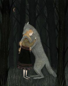 'There there, little friend' by artist Taryn Knight Art And Illustration, Fairytale Art, Dark Art, Art Inspo, Fantasy Art, Fairy Tales, Cool Art, Creations, Artsy