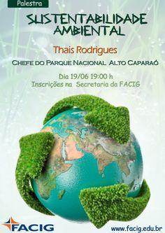 """FACIG Realizará palestra """"Sustentabilidade Ambiental"""""""