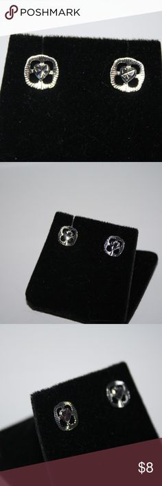 Brand new .925 earrings with hearts Beautiful diamond cut makes these earrings sparkle in the light. .925 stamped. NWOT.  Buy from me with confidence! I have sold over 400 items with a 5 star rating! If you have any questions, do not hesitate to ask.  Looking at a few things in my shop? Put a bundle together, and save! Jewelry Earrings