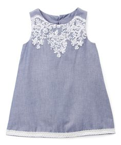 Blue Flower-Accent Shift Dress - Infant & Toddler