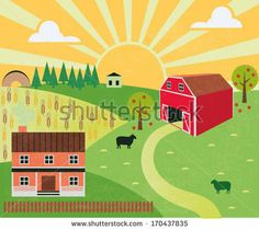 Background idea for the barn quiet book page! I love the sun and clouds.