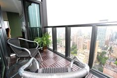 Balcony at X Condo's Suite 4002, image by Scott Hanton