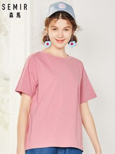 SEMIR T camisa Mujeres Nuevo 100% camisetas de algodón para mujer 2019  vogue camisetas Vintage 6ee61a56f3873