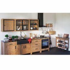 meuble de cuisine haut 2 portes 110cm lys les meubles de cuisine alinea - Cuisine Blanc Et Taupe