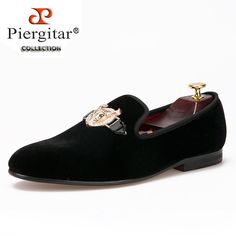 2016 New arrival men Velvet shoes with Tau buckle Men Smoking Slipper Fashion Prom and Banquet Loafers Men Flats Size US 4-17