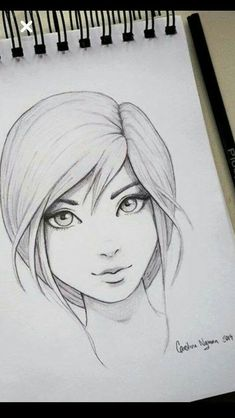 Please visit our website for more Anime Art Dessin de fille Pencil Art Drawings, Art Drawings Sketches, Cartoon Drawings, Easy Drawings, Girl Drawings, Funny Drawings, Realistic Drawings, Drawing Techniques, Drawing Tips
