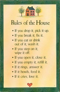 So need this in my house right now. Especially the first couple about cleaning!!! The last two are easy! MW