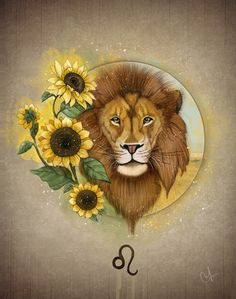 Definitely not this pic but I like the concept. Note to self: redraw using a tribal lion and sun flowers