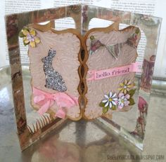 Accordion Album and Frame & Label Bracket dies, created Doublehigh. Awesome project! Stamptramp: 12 Tags of 2013 - March