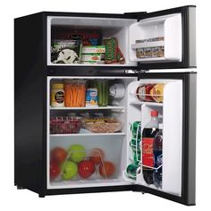 Emerson 3 1 Cu Ft Mini Refrigerator And Freezer Silver
