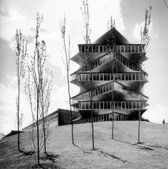 """Que falta de cultura la de este país permitiendo que se demoliera en el 1999 """"La Pagoda"""" de Miguel Fisac."""