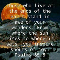 psalms 65;8
