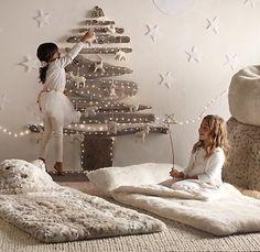 #christmas tree on the wall