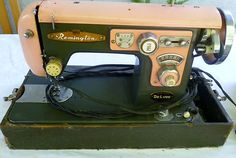 Vintage Pink Remington ZigZag Deluxe Sewing Machine