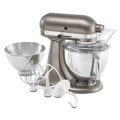 Shop for KitchenAid Architect Series Cocoa Silver Tilt-Head Stand Mixer. Get free delivery On EVERYTHING* Overstock - Your Online Kitchen & Dining Shop! Artisan Mixer, Kitchenaid Artisan, Artisan Kitchen, Small Kitchen Appliances, Kitchen Aid Mixer, Kitchen Gadgets, Kitchen Stuff, Kitchenaid Architect Series, Kitchenaid Standmixer