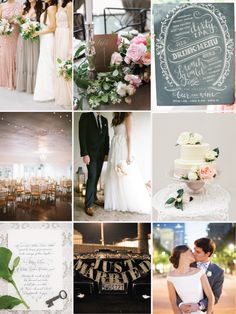 blush and slate city Southern wedding inspiration!