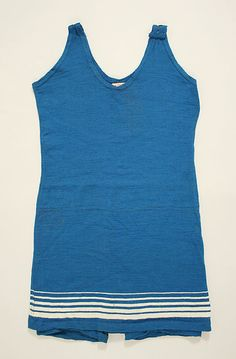 Bathing suit  Date: early 1920s Culture: American Medium: wool    Lovely blue