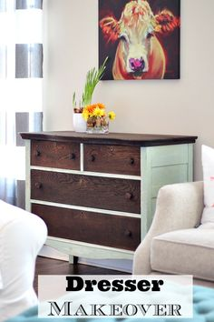 Dresser Makeover with Stain and Paint - #RefreshRestyle refreshrestyle.com