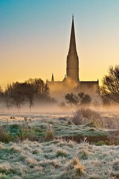 Cold Morning - Salisbury Cathedral, Wiltshire, England