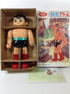 ASTRO BOY OSAKA TIN TOY Atom Anime Bandai Reproduction Limited Wind up Japan 425