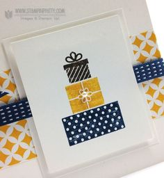 Stampin up stampinup pretty stamp it mary fish birthday cards making ideas wishing you Simple Birthday Cards, Handmade Birthday Cards, Happy Birthday Cards, Paper Cards, Diy Cards, Washi Tape Cards, Card Companies, Card Patterns, Winter Cards
