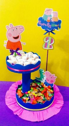 By: dany dewero Peppa E George, George Pig Party, Fiestas Peppa Pig, Cumple Peppa Pig, Peppa Pig Birthday Cake, 3rd Birthday, Birthday Party Decorations, Party Themes, Diy Butterfly Decorations
