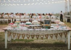 pie sweets table | photo by Tessa Harvey | http://www.100layercake.com/blog/