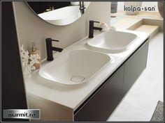 Mobilier baie suspendat Pandora dublu 150 cm Pandora, Sink, Bathroom, Home Decor, Sink Tops, Washroom, Vessel Sink, Decoration Home, Room Decor