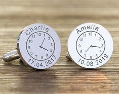 Gorgeous Cufflinks to celebrate your children! What a fab gift idea for any daddy! Wedding Keepsake Boxes, Wedding Keepsakes, Wedding Gifts, Amelia, New Daddy Gifts, Bride And Groom Gifts, Valentine Day Gifts, Valentines, Memorial Gifts