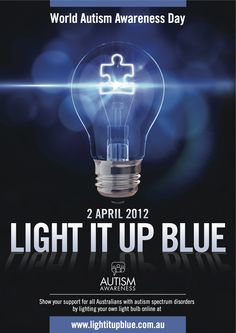 April is Autism Awareness month please support autism speaks for further research.