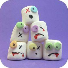 Marshmallows - Halloween ideas!