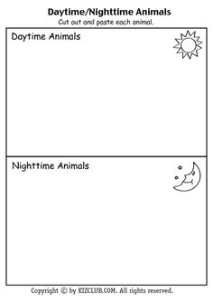 image result for nocturnal animals worksheets kindergarten nature friends class pinterest. Black Bedroom Furniture Sets. Home Design Ideas