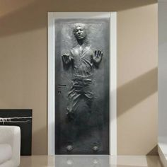 Life-Size Star Wars Han Solo In Carbonite Wall / Door Decal