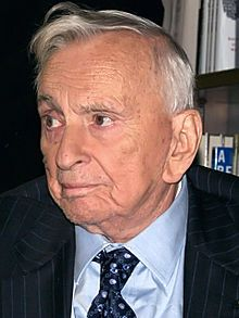 Gore Vidal-- (born Eugene Louis Vidal; 3 October 1925 – 31 July 2012) was an American writer (of novels, essays, screenplays, and stage plays) and a public intellectual known for his patrician manner, epigrammatic wit, and polished style of writing.