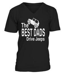 The Best Dads Drive Jeeps T-Shirt  #tshirtprinting #tshirtfashion #tshirtdesign #tshirtteespring