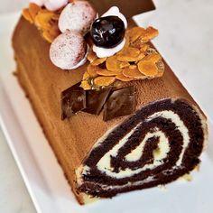 Cherry-and-Chocolate Bûche de Noël