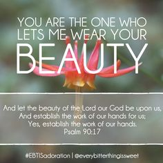 Beauty! I am right here with you today.