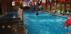 The indoor pool is a great place for all weather fun at The Tyler Place Family Resort.