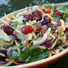 Coleslaw With Grapes and Spinach - Allrecipes.com