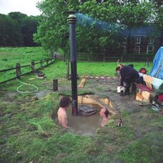 Rocket stove hot-tub, Arnhem, Netherlands. Photo © Gelitin.net via Rocket Stove Science