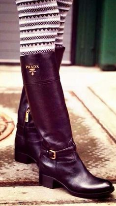 Classic Riding Boot via Prada. xx Dressed to Death xx #fashion #shoes #style…