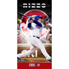 Anthony Rizzo Chicago Cubs Player Profile Wall Art 9.5x19 Framed Photo // #Rizzo #Cubs #WorldSeries #Champs #History #Winners #Chicago