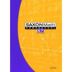 Saxon Math 8/7 Homeschool Tests & Worksheets Book Binding Types, Tracking Student Progress, Saxon Math, Scientific Notation, Math 8, Pythagorean Theorem, Homeschool Books, Learning Styles, Price Sticker